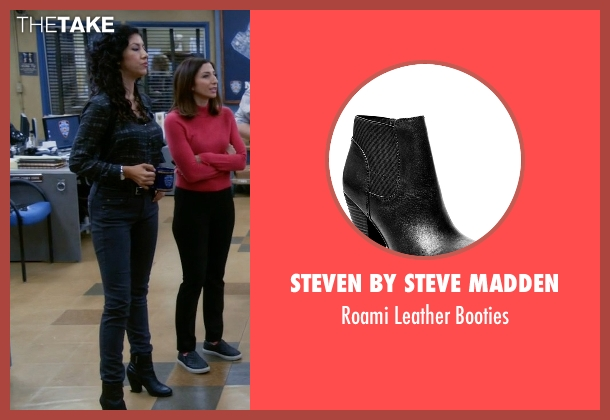 Steven By Steve Madden black booties from Brooklyn Nine-Nine seen with Rosa Diaz  (Stephanie Beatriz)