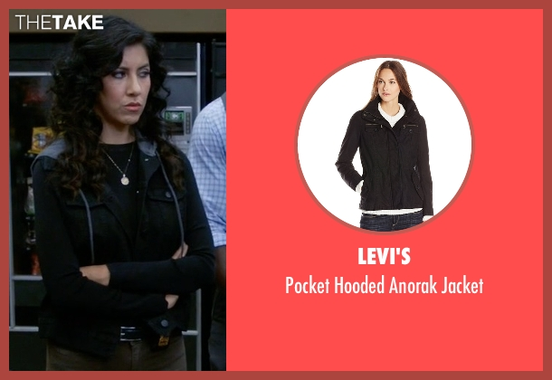 Levi's black jacket from Brooklyn Nine-Nine seen with Rosa Diaz  (Stephanie Beatriz)