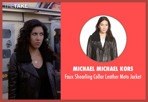 Michael Michael Kors black jacket from Brooklyn Nine-Nine seen with Rosa Diaz  (Stephanie Beatriz)