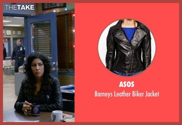 Asos black jacket from Brooklyn Nine-Nine seen with Rosa Diaz  (Stephanie Beatriz)