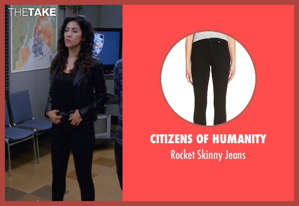 Citizens Of Humanity black jeans from Brooklyn Nine-Nine seen with Rosa Diaz  (Stephanie Beatriz)