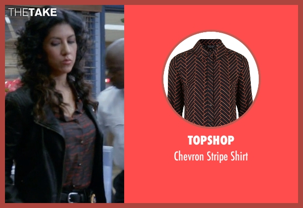 Topshop black shirt from Brooklyn Nine-Nine seen with Rosa Diaz  (Stephanie Beatriz)