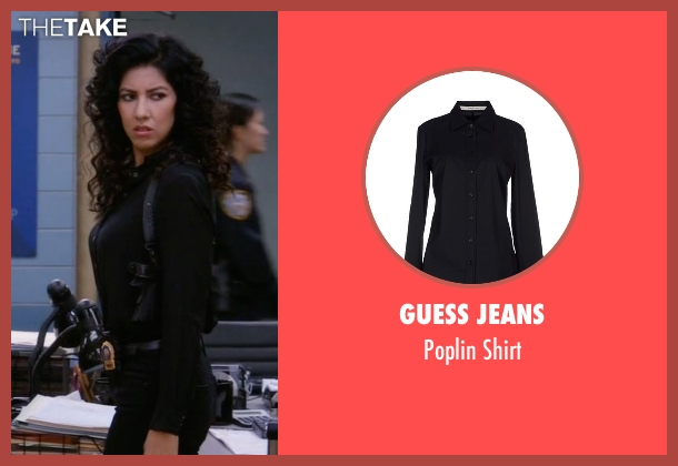 Guess Jeans black shirt from Brooklyn Nine-Nine seen with Rosa Diaz  (Stephanie Beatriz)