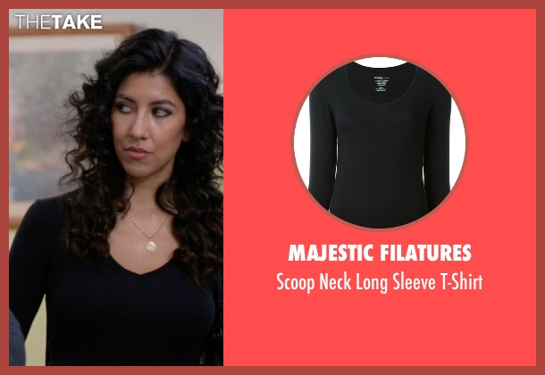 Majestic Filatures black t-shirt from Brooklyn Nine-Nine seen with Rosa Diaz  (Stephanie Beatriz)