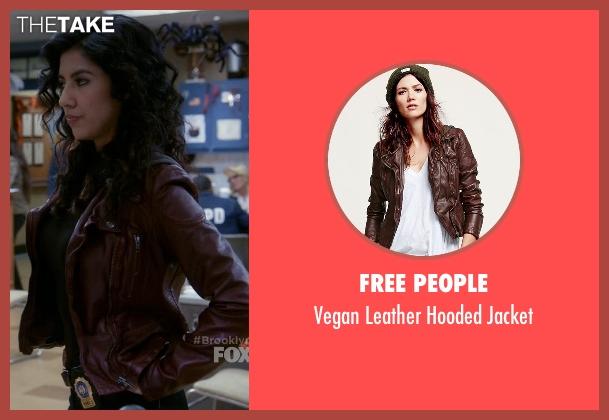 Free People brown jacket from Brooklyn Nine-Nine seen with Rosa Diaz  (Stephanie Beatriz)