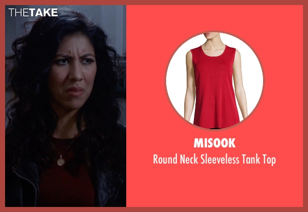 Misook red top from Brooklyn Nine-Nine seen with Rosa Diaz  (Stephanie Beatriz)