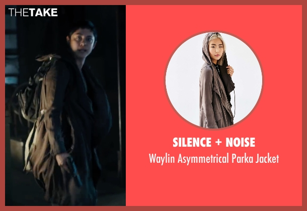 Silence + Noise brown jacket from Maze Runner: The Scorch Trials seen with Rosa Salazar (Brenda)