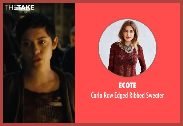 Ecote red sweater from Maze Runner: The Scorch Trials seen with Rosa Salazar (Brenda)