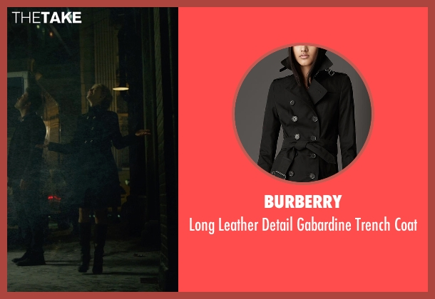 Burberry black coat from Gone Girl seen with Rosamund Pike (Amy Dunne)