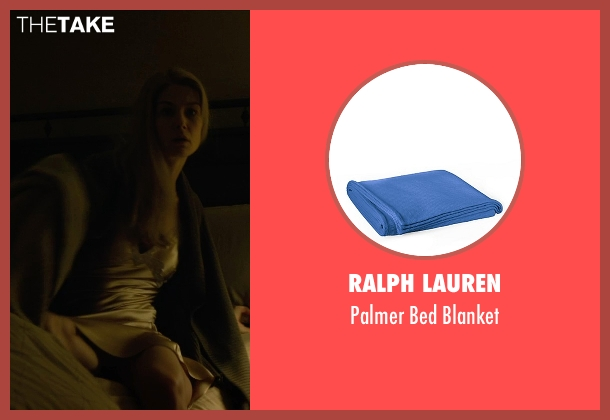 Ralph Lauren blue blanket from Gone Girl seen with Rosamund Pike (Amy Dunne)