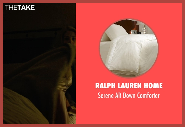 Ralph Lauren Home white comforter from Gone Girl seen with Rosamund Pike (Amy Dunne)