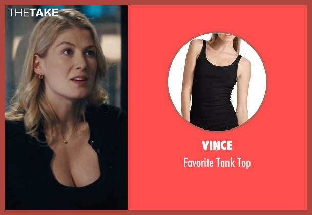 Vince black top from Jack Reacher seen with Rosamund Pike (Helen Rodin)