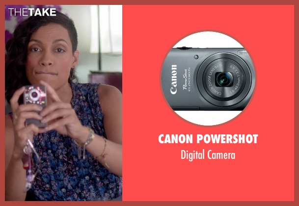 Canon Powershot camera from Top Five seen with Rosario Dawson (Chelsea Brown)
