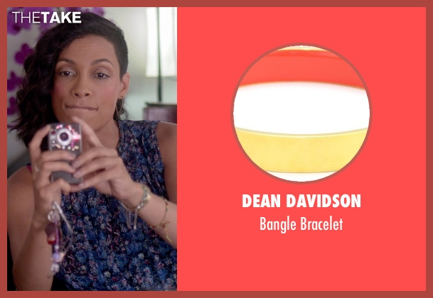 Dean Davidson gold bracelet from Top Five seen with Rosario Dawson (Chelsea Brown)