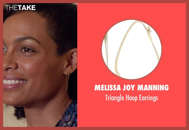 Melissa Joy Manning gold earrings from Top Five seen with Rosario Dawson (Chelsea Brown)