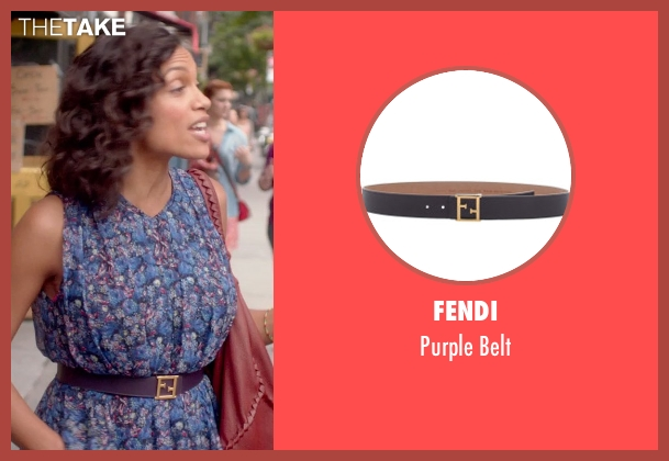 Fendi purple belt from Top Five seen with Rosario Dawson (Chelsea Brown)