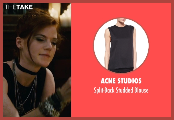 Acne Studios black blouse from The Last Witch Hunter seen with Rose Leslie (Chloe)