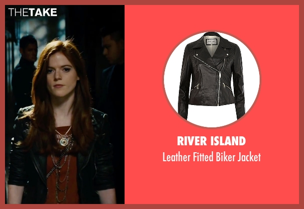 River Island black jacket from The Last Witch Hunter seen with Rose Leslie (Chloe)