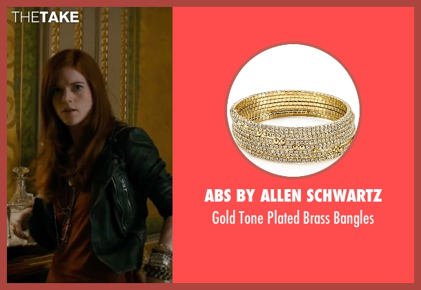 ABS by Allen Schwartz gold bangles from The Last Witch Hunter seen with Rose Leslie (Chloe)