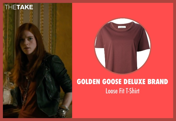 Golden Goose Deluxe Brand red t-shirt from The Last Witch Hunter seen with Rose Leslie (Chloe)
