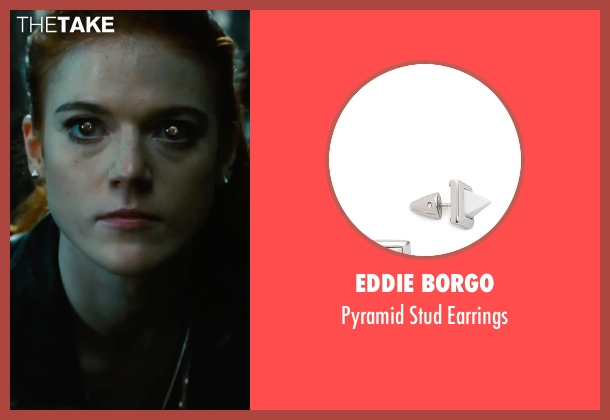 Eddie Borgo silver earrings from The Last Witch Hunter seen with Rose Leslie (Chloe)