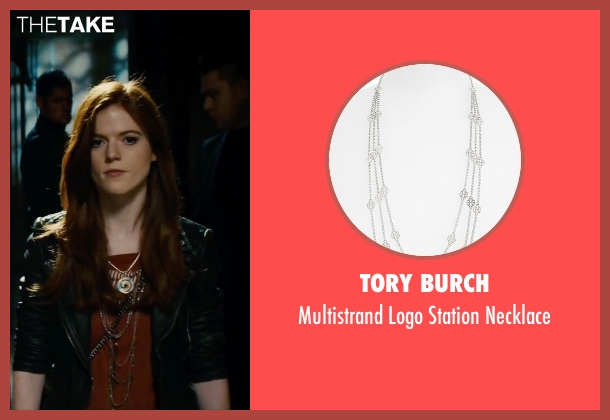 Tory Burch silver necklace from The Last Witch Hunter seen with Rose Leslie (Chloe)
