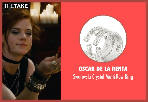 Oscar De La Renta silver ring from The Last Witch Hunter seen with Rose Leslie (Chloe)