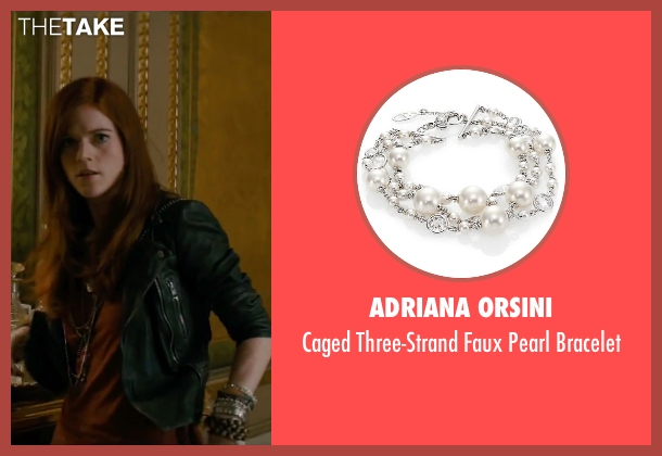 Adriana Orsini white bracelet from The Last Witch Hunter seen with Rose Leslie (Chloe)