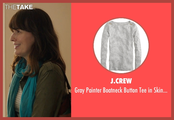 J.Crew gray stripe from Poltergeist seen with Rosemarie DeWitt (Amy Bowen)