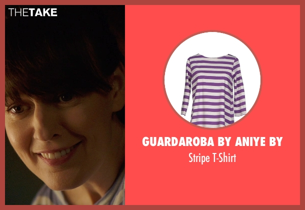 Guardaroba by Aniye By purple t-shirt from Poltergeist seen with Rosemarie DeWitt (Amy Bowen)