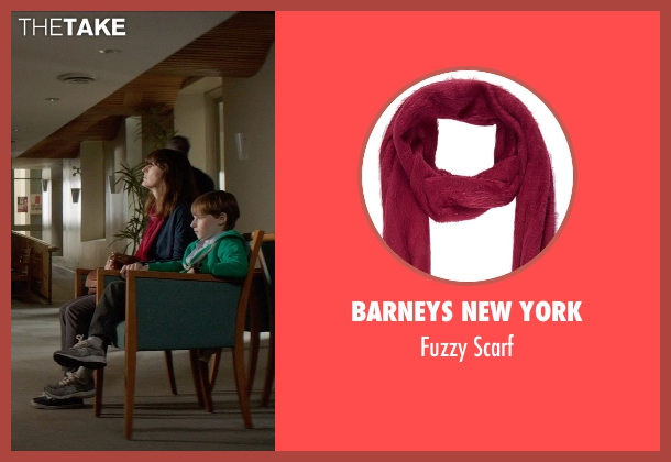 Barneys New York red scarf from Poltergeist seen with Rosemarie DeWitt (Amy Bowen)