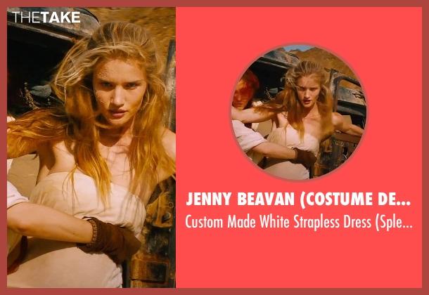 Jenny Beavan (Costume Designer) beige dress from Mad Max: Fury Road seen with Rosie Huntington-Whiteley (Splendid)