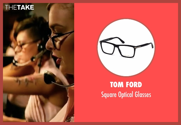 Tom Ford black glasses from John Wick: Chapter 2 seen with Ruby Rose (Ares)