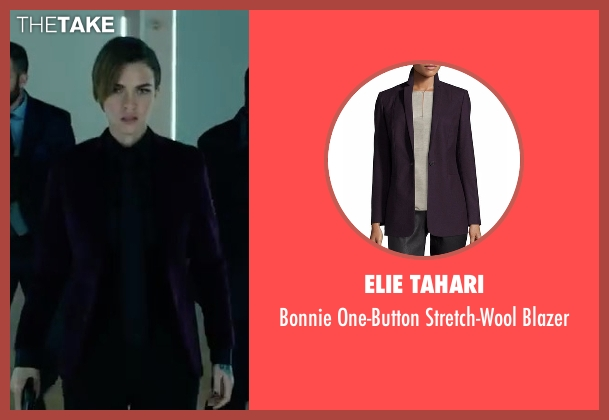 Elie Tahari purple blazer from John Wick: Chapter 2 seen with Ruby Rose (Ares)