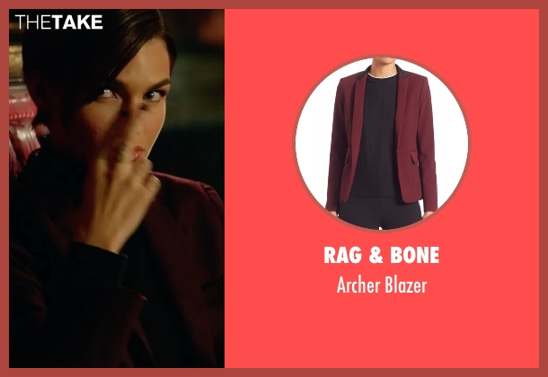 Rag & Bone red blazer from John Wick: Chapter 2 seen with Ruby Rose (Ares)