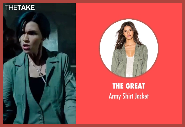 The Great green jacket from xXx: Return of Xander Cage seen with Ruby Rose (Adele Wolff)