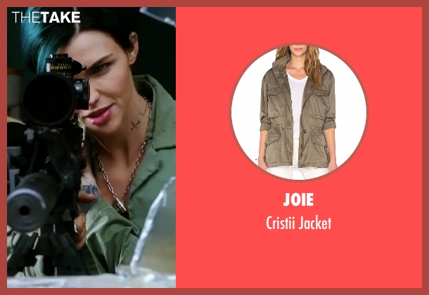 Joie green jacket from xXx: Return of Xander Cage seen with Ruby Rose (Adele Wolff)
