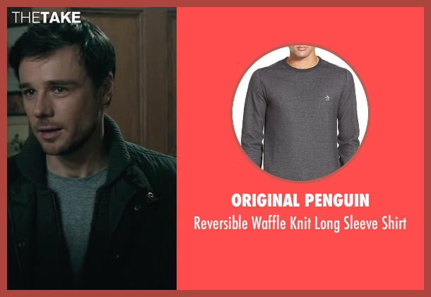 Original Penguin gray shirt from The Boy seen with Rupert Evans (Malcolm)