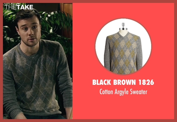 Black Brown 1826 gray sweater from The Boy seen with Rupert Evans (Malcolm)