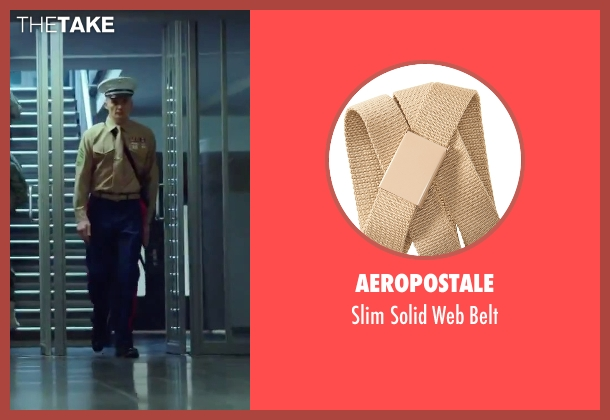 Aeropostale beige belt from Hitman: Agent 47 seen with Rupert Friend (Agent 47)