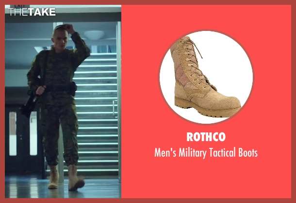 Rothco beige boots from Hitman: Agent 47 seen with Rupert Friend (Agent 47)