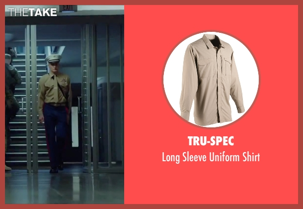 Tru-Spec beige shirt from Hitman: Agent 47 seen with Rupert Friend (Agent 47)