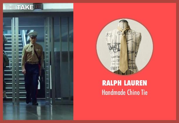 Ralph Lauren beige tie from Hitman: Agent 47 seen with Rupert Friend (Agent 47)