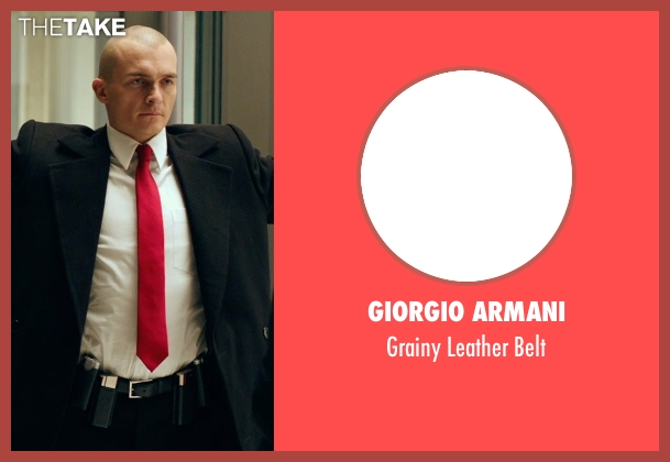 Giorgio Armani black belt from Hitman: Agent 47 seen with Rupert Friend (Agent 47)