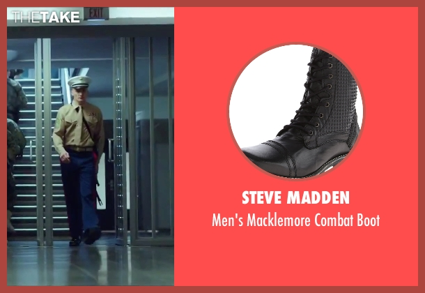 Steve Madden black boot from Hitman: Agent 47 seen with Rupert Friend (Agent 47)