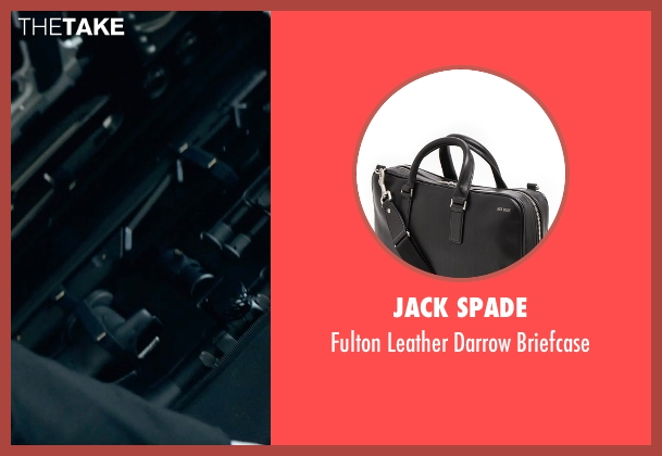 Jack Spade black briefcase from Hitman: Agent 47 seen with Rupert Friend (Agent 47)