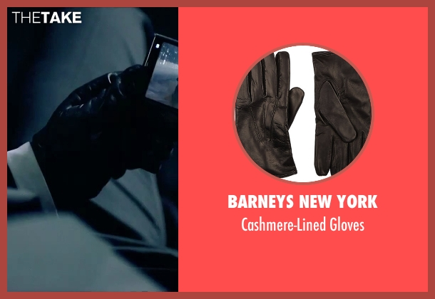 Barneys New York black gloves from Hitman: Agent 47 seen with Rupert Friend (Agent 47)