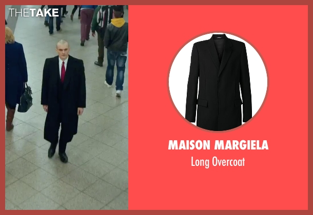 Maison Margiela black overcoat from Hitman: Agent 47 seen with Rupert Friend (Agent 47)