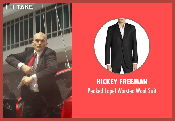 Hickey Freeman black suit from Hitman: Agent 47 seen with Rupert Friend (Agent 47)
