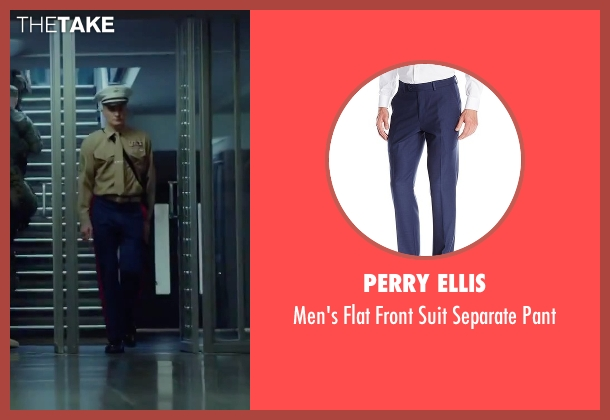 Perry Ellis blue pant from Hitman: Agent 47 seen with Rupert Friend (Agent 47)